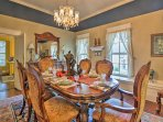 Savor homemade meals at the formal 6-person dining table.