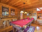 You'll love playing billiards in the game room.