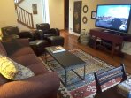 Lower Family Room with big screen TV