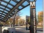 Eastern Market Metro is just 1.5 blocks away (Orange/Blue/Silver Lines)