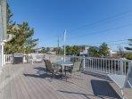 Large Front Deck w/ Ocean Views & Plenty of Seating