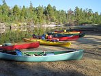 Free kayak, canoe, paddle board, and pedal boat rentals at the beach. 1 mile from the home.