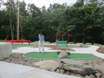 Free miniature golf course 1 mile from the home.
