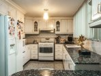 Our Kitchen, Equipped with almost all appliances like fridge, microwave, oven, stove, dishes, etc.