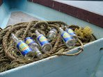 Take lots of essential provisions on a boat trip