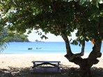 Find lots of shady spots like this one at a bay near Castara to relax and dream