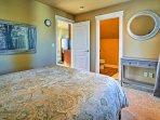 The bedroom also has an en-suite bathroom.