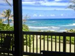 Oceanfront views from your private lanai