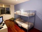 Dormitorio 2. Aquí se puede añadir una cama extra o cuna