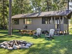 Gather around the outdoor fire pit and roast marshmallows or share exciting stories.