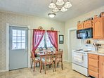 Prepare all your favorite family recipes in this fully equipped kitchen.