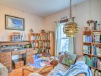 Choose a book or board game from the home's expansive collection.