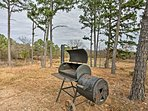 Whip up a barbecue dinner on the charcoal grill.