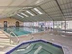 Splash around in the indoor pool!