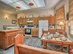 Serve your culinary creations at the breakfast nook with seating for 4.