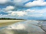 Beach View in front of Ocean Dunes