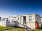 6 berth caravan for hire at St. Osyth Beach Holiday Park. Emerald rated.