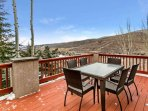 Enjoy the views on the beautiful main level deck.