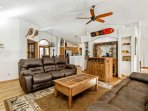 Enjoy the open floor plan in this mountain residence.