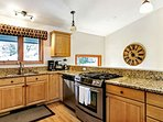 This spacious, fully equipped kitchen has everything you need to dine in with family or entertain friends.