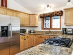 Enough room for multiple cooks in this fully equipped kitchen.