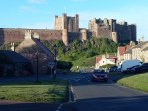 Bamburgh Castle, standing over the tiny village of Bamburgh, Northumberland