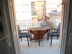 Terrace with table and 4 chairs