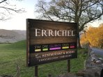 Garden Cottage is on Errichel Farm.  Look for these road signs on the Crieff Road