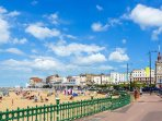 Margate main sands and clock tower