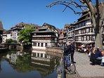 Vue sur le quartier pittoresque le Petite France de Strasbourg