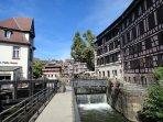 Vue sur le quartier pittoresque de la Petite France de Strasbourg