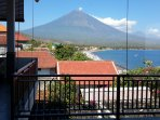 Panorama One view of Mt. Agung and Amed coastline. Bedroom 3....