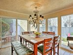 Savor homemade meals at this stately 8-person dining table.
