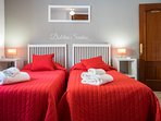 The Red Bedroom set as a Twin.  This can also be configured as a SuperKing.