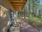 Sip your morning coffee or tea on this lower viewing balcony.