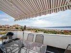 House Veranda with pool - sea view