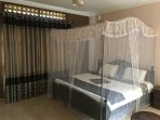 Mosquito nets in all rooms
