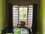Bay window letting in plenty of fresh and cool air