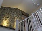 Feature granite walls from original barn