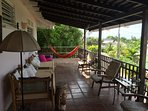The Veranda is a great chill out space with picturesque views to the ocean.