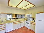 In the fully equipped kitchen, you'll find everything you need to prepare a home-cooked meal.