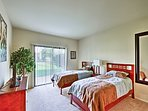 Twin beds make this room perfect for siblings or friends to share.