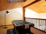 Pool table on mezzanine