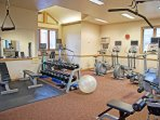 Full fitness center at the clubhouse