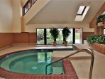 Very large indoor hot tub at the clubhouse