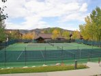 2 tennis courts with beautiful views
