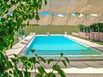 Pool with view over Le Marche countryside