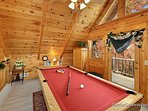 Pool Table in Lofted Game Room at A Lover's Secret