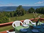 Terrace with Panoramic view to Valdivia River.