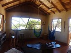 The Gumbo Limbo Lounge, A common area for guests to play games, read a book or just hang out!